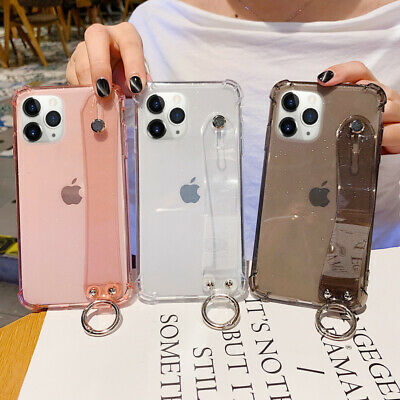 AU5.19 • Buy For IPhone 11 Pro MAX XS XR X 7 8 6 Bling Hand Strap Stand Clear Soft Case Cover