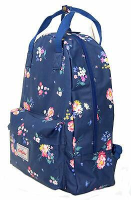 Cath Kidston Backpack Rucksack Busby Bunch In Navy Blue Oilcloth • 46.99£
