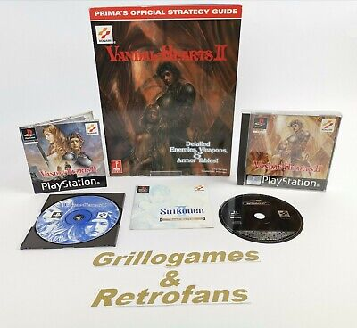 £128.60 • Buy Sony Playstation 1 Spiel   Vandal Hearts II 2 + Strategy Guide   Ps1   Ovp   Pal