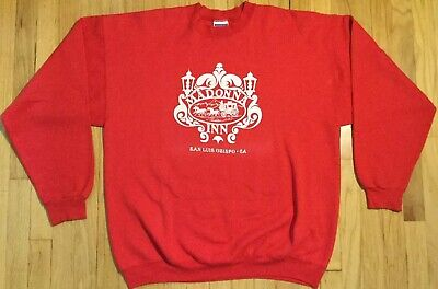 $ CDN32.47 • Buy Vintage 90s Madonna Inn Sweatshirt XL Red Crewneck San Luis Obispo California