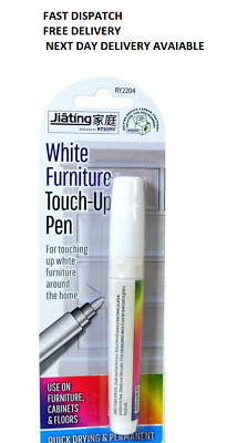 White Furniture Touch Up Pen Marker Repair Wood Floor Cabinet Laminate Scratches • 1.99£