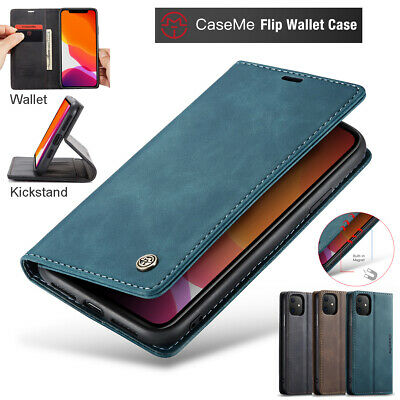 AU9.98 • Buy For IPhone 12 13 11 Pro Max Case Magnetic Leather Wallet Card Flip Stand Cover