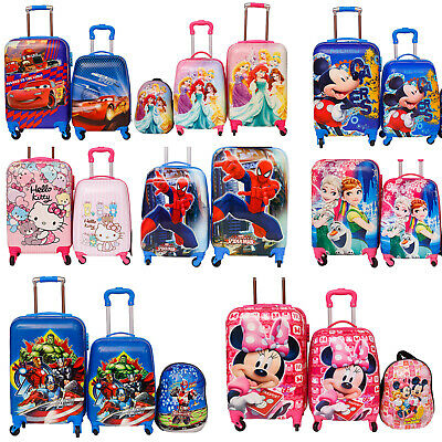 Children Kids Holiday Travel Hard Shell Suitcase Luggage Trolley Bag Backpack  • 36.99£