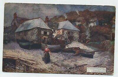 £2.99 • Buy Cadgwith Cove Cornwall Vintage Raphael Tuck Art Postcard B2