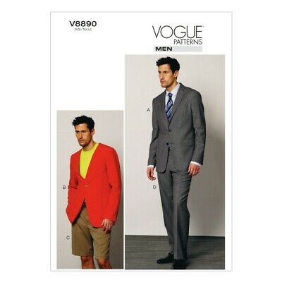 £19.50 • Buy Vogue Sewing Pattern V8890 Men's Jacket Shorts And Trousers