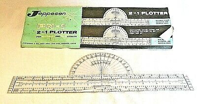 Vintage Jeppesen PN-1  2 IN 1 Plotter For Sectional And WAC Charts Used VG • 9.89$