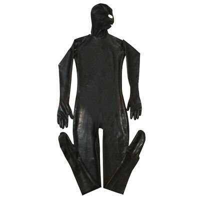 £39.99 • Buy Men Black Sketched Full Body Catsuit Eyes Mouth Open Role Play Fetish Gimp