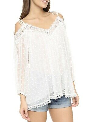ZIMMERMANN Silk Realm Blouse Sz 2 • 150$