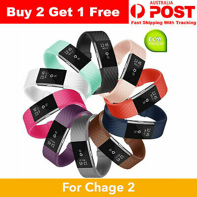 AU3.99 • Buy Fitbit Charge 2 Replacement Strap Sport Soft Silicone Watch Bands Wristband 22mm