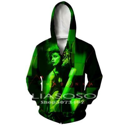 $ CDN22.58 • Buy Singer Madonna3D Print Zipper Hoodies Sweatshirt Jacket MenWomen Sports Coat Top