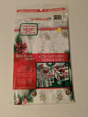 $ CDN13.27 • Buy Vintage Kitchen Mate Plastic Christmas Tablecloth 54 X 72 In Brand New
