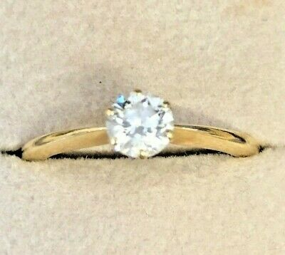0.50ct Excellent 4 C's Diamond Solitaire 18ct Gold Ring Size O  Retail £1,800  • 900£