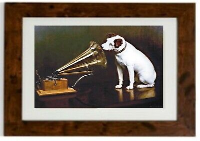 Nipper The Original HMV Dog  Framed Print • 19.99£