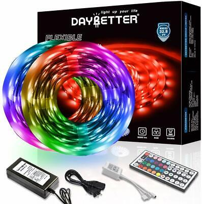 Led Strip Lights 32.8ft 10m With Remote&Power Supply Color Changing DIY Decor • 25.37$