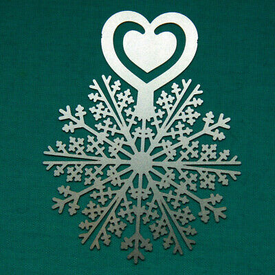£4 • Buy Metal Snowflake & Heart Clip Bookmark. Silver Colour. Pointy Cross Design.