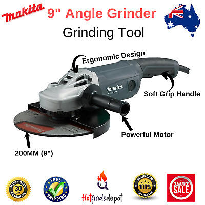 AU197.48 • Buy Makita 9  Angle Grinder Grinding Tool 230mm 9 Inch Powerful 2000W Cord M9001G