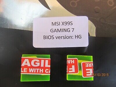 AU35 • Buy MSI Bios (chips Only X2) For MSI X99S Gaming7 2011-v3 Board