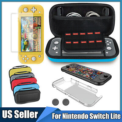 For Nintendo Switch Lite Carrying Case Bag+Shell Cover+Tempered Glass Protector • 12.87$