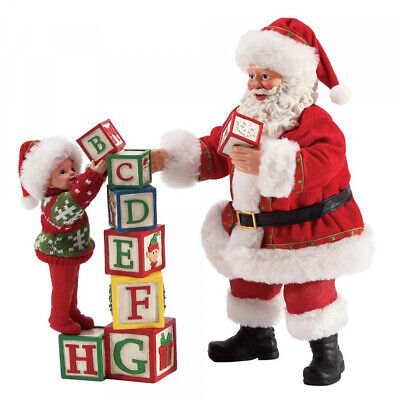 Enesco Possible Dreams Santa Building Blocks Father Christmas Figurine  Dept 56 • 59.95£