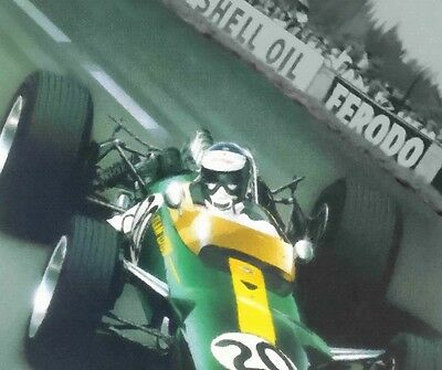 Jim Clark 30x20 Inch Canvas - Lotus 25 Framed Picture F1 Art Formula One • 38.95£