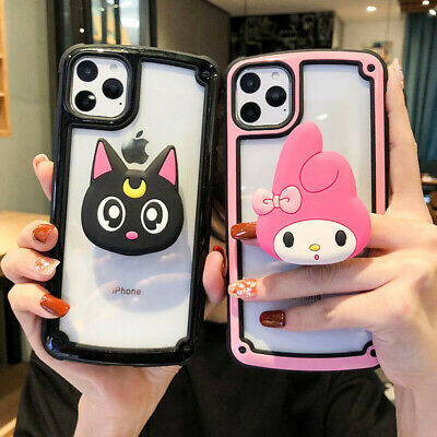 AU11.97 • Buy Cartoon Melody Cat Stand Holder Case Cover For IPhone 12 11 Pro Max XS XR X 7 8+