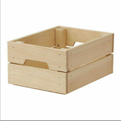 IKEA KNAGGLIG Wooden Pine Storage Box Crate Ideal For Bottle Can 23x31cm Pup10 • 13.49£