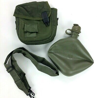 $ CDN24.12 • Buy 2 QT Collapsible Water Canteen Cover Pouch W Sling US Army Military Olive Green