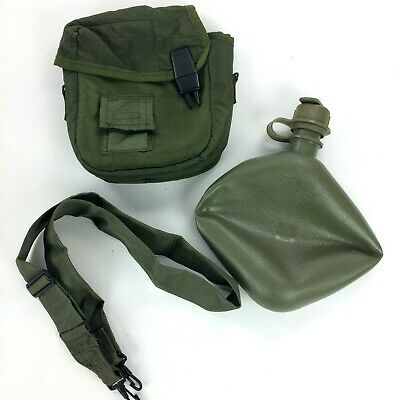 $ CDN26.30 • Buy 2 QT Collapsible Water Canteen Cover Pouch W Sling US Army Military Olive Green