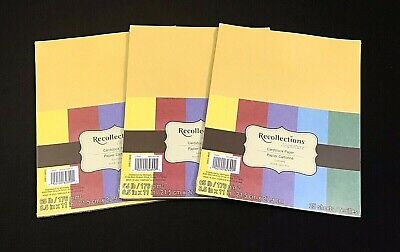 $6.99 • Buy LOT OF 3 - RECOLLECTIONS 8.5 X11  CARDSTOCK - LUMIERE - 25 Sheets Each - (LOT47)
