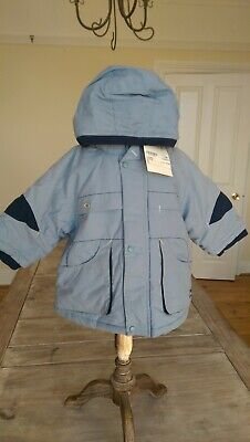 SAVE£31 New Marese Designer Rrp£50.99 12m Cute Babyboy Blue Padded Jacket BNWT • 19.99£
