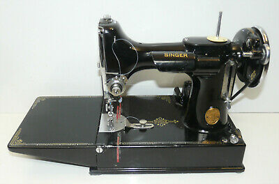 $999 • Buy 1936 Vintage Singer 221 Featherweight Sewing Machine W/ Case & Key Tested INV