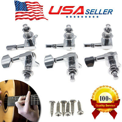 $13.70 • Buy 3L&3R Guitar Tuners Tuning Pegs Machine Heads For Electric Acoustic Hot