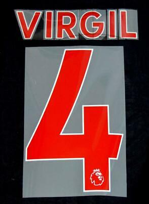 $12.02 • Buy Liverpool Virgil 4 Premier League Football Shirt Name Sporting ID 18/19 Red