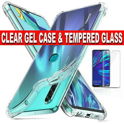Gel Case/Glass Screen Protector For Huawei Y5 Y6 Y7 Mate P9 P10 P20 Pro Lite • 2.99£