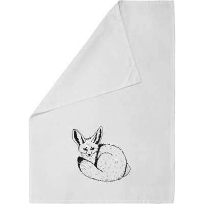 'Fennec Fox' Cotton Tea Towel / Dish Cloth (TW00007557) • 7.99£
