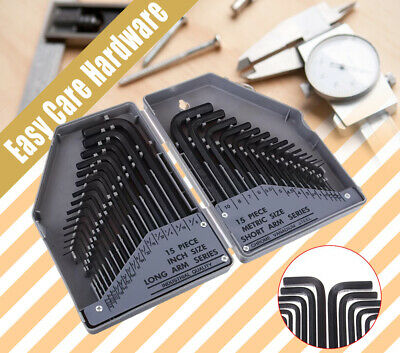 AU17.50 • Buy 30 Pc Pcs Hex Key Metric And Imperial Allen Alan Allan Key Set Tools Kit CRV AU