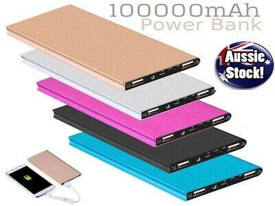 AU23.45 • Buy Ultra-Thin 100,000mAh Battery Charger Power Bank For Samsung S20 S10 IPhone IPad