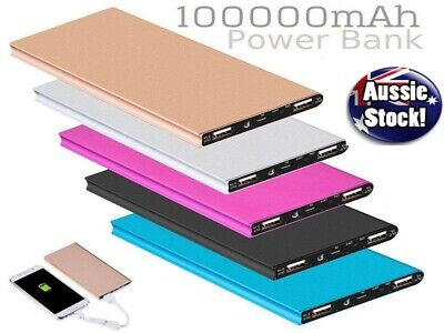 AU21.88 • Buy Ultra-Thin 100,000mAh Battery Charger Power Bank For Samsung S20 S10 IPhone IPad