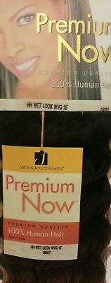 Sensationnel Premium Now 100% Human Hair New Wet Look WVG 10  Colour 1B30T • 14.99£