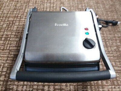 Breville BGR200XL Variable Temperature Ribbed Panini Grill Stainless Steel 1500W • 7.23£