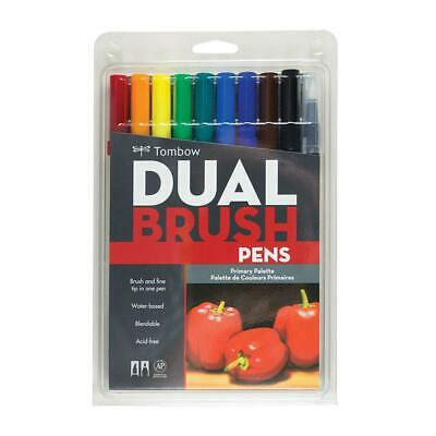 AU47.50 • Buy Tombow Dual Brush Pen - 10 Color Set - Primary