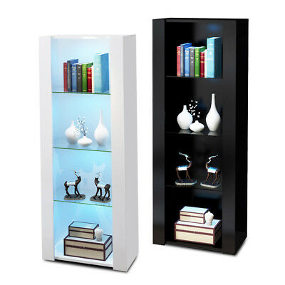 160cm High Gloss Cabinet Display TV Stands Living Room Furniture Bookcases Unit  • 86.99£