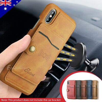 AU14.99 • Buy Slim Leather Wallet Card Shockproof Case Cover For Apple IPhone XS Max XR X