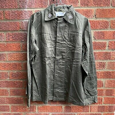 £11.99 • Buy Italian Army Surplus Issue Olive Green Cotton Combat Shirt,fatigues,italy