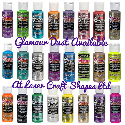 DecoArt Glamour Dust Ultra Fine Glitter Craft Paint 2oz. 24 Colours Same Day Dis • 5.99£