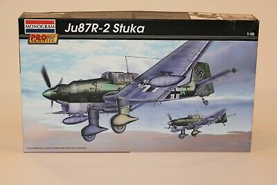 $21 • Buy Monogram Pro Modeler 1/48 Scale Ju87R-2 Stuka Model Kit 85-5975
