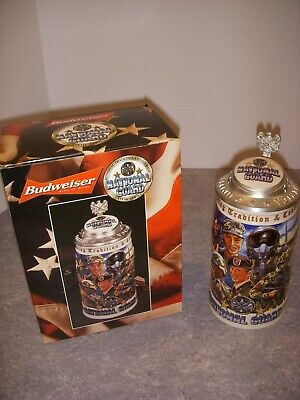 $ CDN43.68 • Buy Budweiser Honoring Tradition And Courage Series,  National Guard  Stein, 2001!