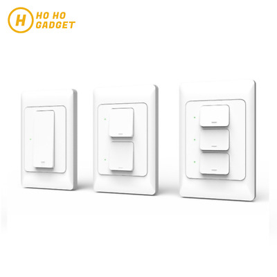 AU30.95 • Buy AU Approved Smart Home WIFI Light Switch Touch Panel 1/2/3 Gang APP Remote Voice