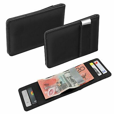AU8.99 • Buy RFID Blocking Purse Flip Leather Wallet Slim Credit Card Holder Men Money Clip