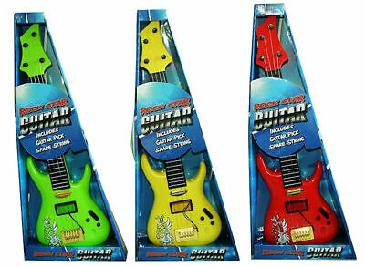 A To Z Childrens Kids Childs Toy Rock Star Guitar New Boxed • 8.95£